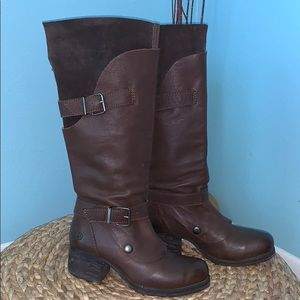 Bronx West Wind Size 36 Brown Leather Tall Boots